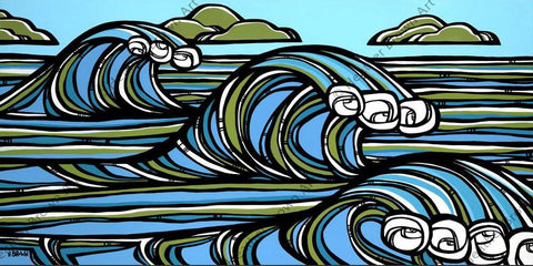 "Heather Brown ""North Swell"" Limited Edition Canvas Giclee"