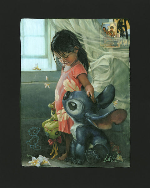 "Heather Theurer Disney ""Ohana Means Family"" Limited Edition Paper Giclee"