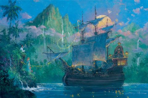 "James Coleman Disney ""Pan on Board"" Limited Edition Canvas Giclee"