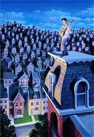 "Rob Gonsalves Rob Gonsalves- "" Performer and his Public ""-Giclée on Paper  7""  x 10""  Limited 395 Paper and Canvas Giclee"