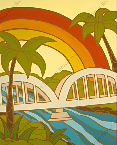 "Heather Brown ""Rainbow Bridge"" Limited Edition Canvas Giclee"