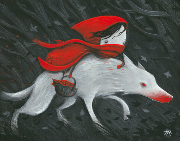 "Justin Hillgrove ""Red Riding Hood"" Limited Edition Metal"