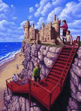 "Rob Gonsalves Rob Gonsalves "" Castle on a Cliff "" Giclée on Paper 5 1/2 x 7 1/2"" Limited 395 Paper Gicleee"