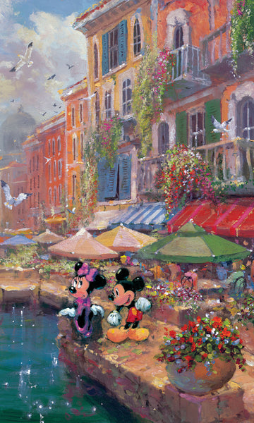 "James Coleman Disney ""Romance on the Riviera"" Limited Edition Canvas Giclee"