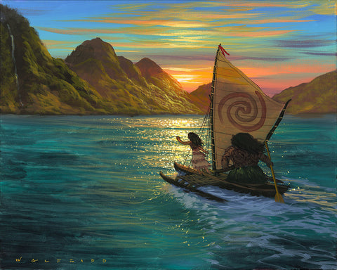 "Walfrido Garcia Disney ""Sailing Into the Sun"" Limited Edition Canvas Giclee"