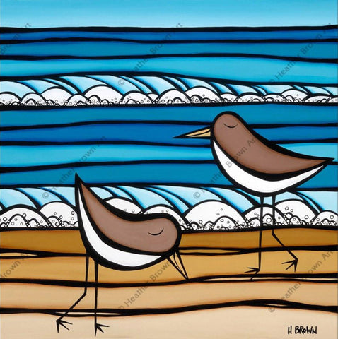 "Heather Brown ""Sea Birds"" Limited Edition Canvas Giclee"