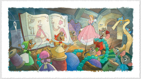 "Toby Bluth Disney ""Sew Beautiful"" Limited Edition Paper Giclee"