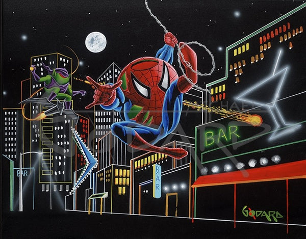 "Michael Godard ""Spider-Tini"" Limited Edition Canvas Giclee"
