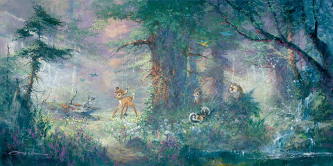 "James Coleman Disney ""Springtime in the Meadows"" Limited Edition Canvas Giclee"