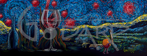 "Michael Godard  ""Starry Starry Wine"" 24"" by 60"" Master Edition Series of 50 -Art Center Gallery www.shopartcenter.com  1-866-254-6523"