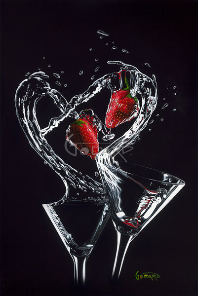 "Michael Godard ""Strawberry Splash"" Limited Edition Canvas Giclee"