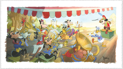 "Toby Bluth Disney ""Strike Up The Band"" Limited Edition Paper Giclee"