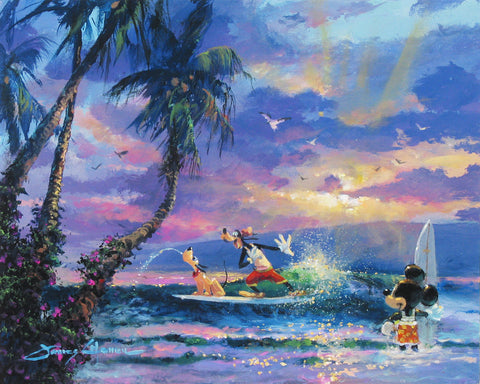 "James Coleman Disney ""Summer Escape"" Limited Edition Canvas Giclee"
