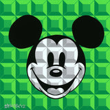 "Tennessee Loveless Disney ""8 Bit-Block Mickey"" Limited Edition Serigraph on Canvas"