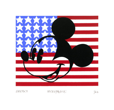 "Tennessee Loveless Disney ""Mickeymerica"" Limited Edition Serigraph on Paper"