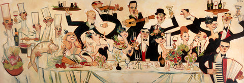"Clifford Bailey ""The Big Table"" Limited Edition Canvas Giclee"