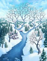 "Rob Gonsalves Rob Gonsalves ""Tributaries"" Giclée on Paper   5.5 x 7"" Limited 395 Paper Giclee"