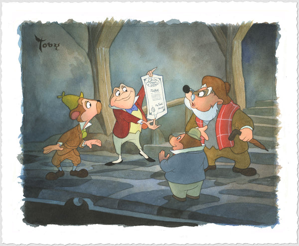 "Toby Bluth Disney ""Triumphant Mr. Toad"" Limited Edition Paper Giclee"