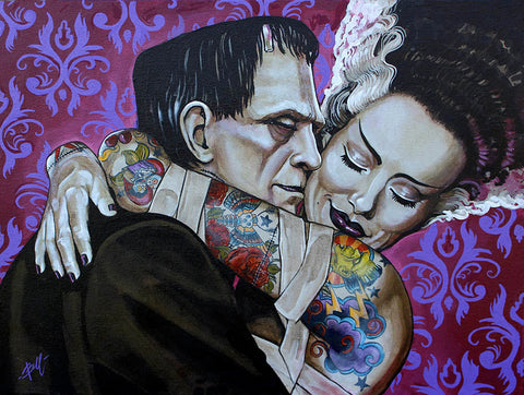 "Mike Bell ""Undying Love"" Canvas Giclee"
