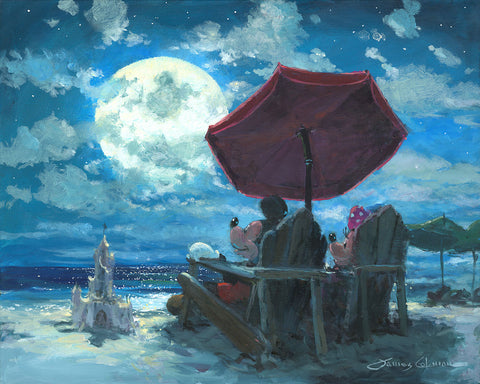 "James Coleman Disney ""Under the Moonlight"" Limited Edition Canvas Giclee"