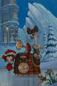 "Bob Doucette ""The Perils Of Multi-Tasking"" - Limited Edition- 20""x30""- Canvas Giclee Prints Limited Edition Canvas Giclee"