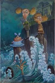 "Bob Doucette-"" Mystery of the Missing Maid"" - Limited Edition- 15""x20"" Canvas Giclee Edition #100"
