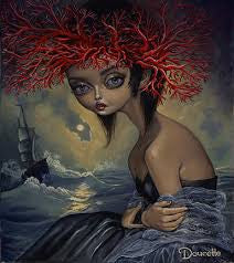 "Bob Doucette ""Siren"" - Limited Edition- 16""x20""- Canvas Giclee Prints Limited Edition Canvas Giclee"