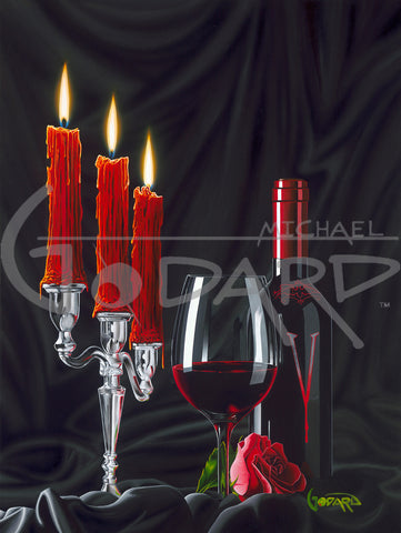 "Michael Godard ""Vampire Wine"" Limited Edition Canvas Giclee"