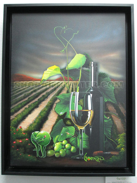 "Michael Godard ""Vineyard Home"" Original on Canvas"