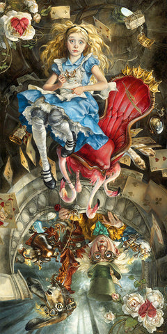 "Heather Theurer Disney ""We're All Mad Here"" Limited Edition Canvas Giclee"