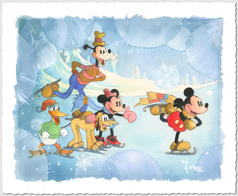 "Toby Bluth Disney ""Winter Wonderland"" Limited Edition Paper Giclee"
