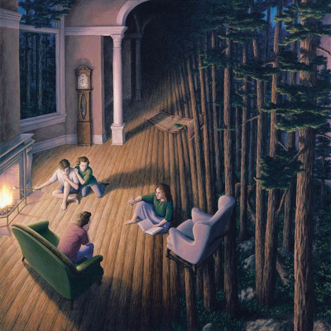"Rob Gonsalves Rob Gonsalves ""Woods Within "" Giclée on Paper 7 x 7 "" Limited 395 Paper Giclee"