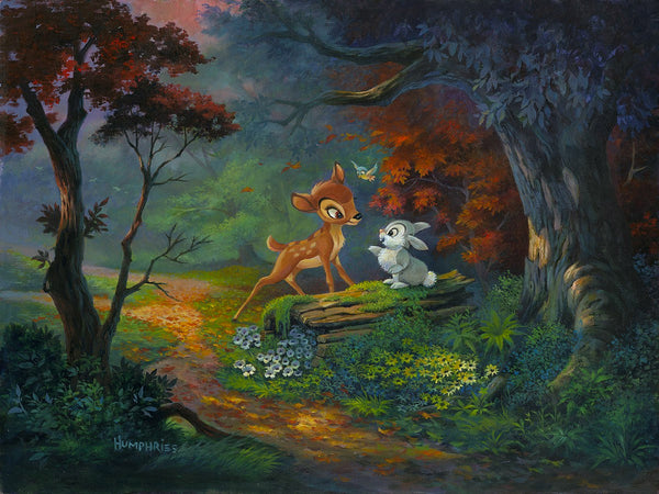 "Michael Humphries Disney ""A Friendship Blossoms"" Limited Edition Canvas Giclee"