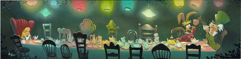 "Rob Kaz Disney ""A Mad Tea Party"" Limited Edition Canvas Giclee"