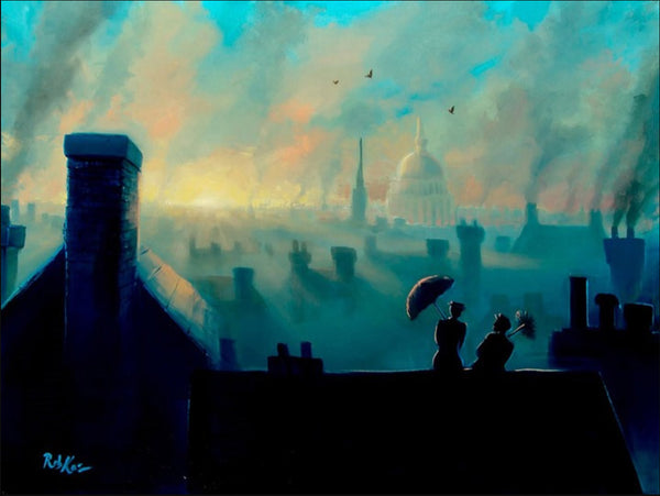 "Rob Kaz Disney ""A View From the Chimneys"" Limited Edition Canvas Giclee"