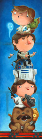 "Justin Hillgrove ""Light Side""  Size 10"" x 30"" Limited A/P Edition Canvas of 114 Canvas Giclee"