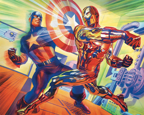 "Alex Ross Art "" In Mortal Combat "" S/N edition Canvas giclees:  28"" x 21.75"" Edition of 100"