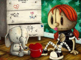 "Fabio Napoleoni- ""It's Yours Forevever (Itty Bitty) "" - Edition AP 47 - 10"" by 14""-Canvas Giclee - Art Center Gallery"