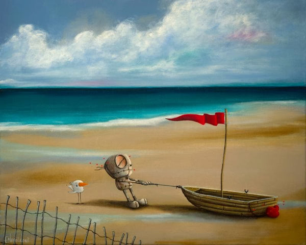 "Fabio Napoleoni-  "" Somewhere Beyond the Sea  "" - Size: 25.5 by 29 Paper Giclee - Art Center Gallery"