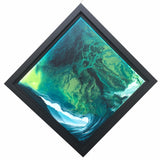 "Ashton Howard Ashton Howard "" Kyrpto-Diamond "" Size : 12"" by 12"" -  Original Canvas-Framed Original"