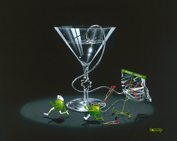 "Michael Godard  ""Nursing a Martini 2"" 28 by 35 Limited Ed S Series 300 - Art Center Gallery"