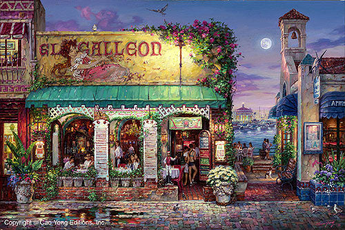 "CAO YONG ""Cafe Bella"" LIMITED EDITION H/E CANVAS 20"" by 30"" - Art Center Gallery"