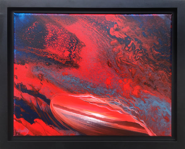 "Ashton Howard Ashton Howard "" Lava-Tube"" Size : 11"" by 14"" -  Original Canvas-Framed Original"
