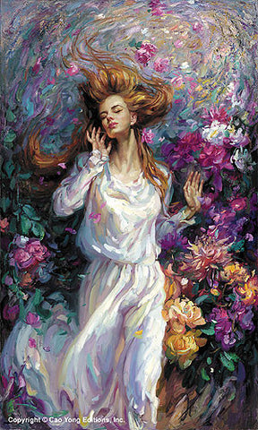 "CAO YONG ""Winds of Love"" Limited Edition H/E CANVAS 31"" by 18.5"" -Art Center Gallery www.shopartcenter.com  1-866-254-6523"