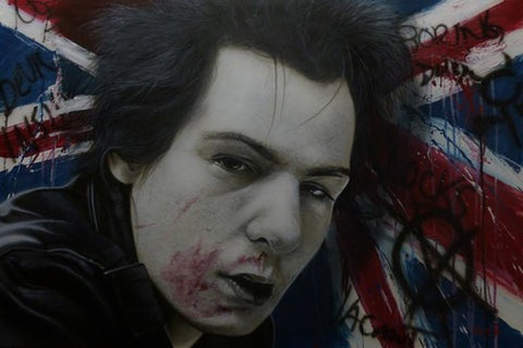 "Stickman ""I Wanna Destroy The Passerby"" (Sid Vicious) Limited Edition Canvas Giclee"