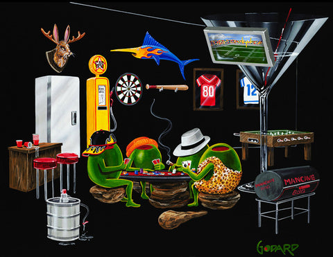 "Michael Godard ""Man Cave"" Limited Edition Canvas Giclee"