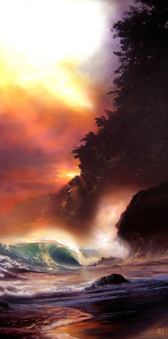 "Ashton Howard ""Maui Mist"" Size : 15"" by 30"" - Limited SN ""295"" Edition Giclee Canvas - Art Center Gallery"