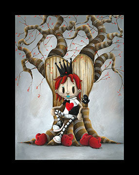"Fabio Napoleoni ""Queen of Broken Hearts""  Limited SN Paper - 21"" X 27""  Edition of 150"