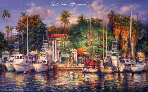 "Cao Yong ""Lahaina Afternoon"" Limited Edition Canvas Giclee"