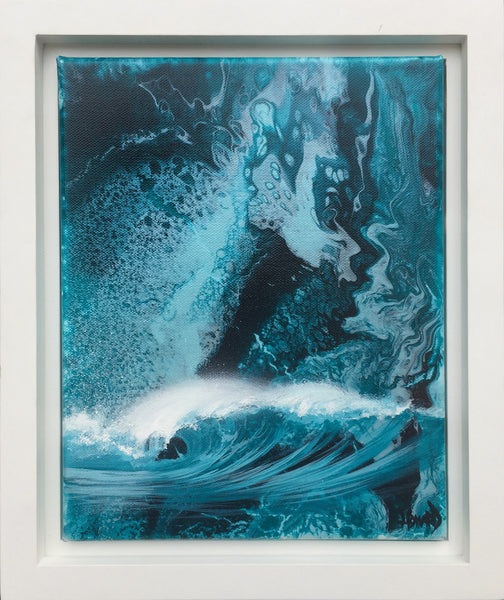 "Ashton Howard ""Cool Pacific"" Size : 10"" by 12"" -  Original Canvas-Framed"